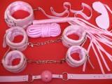 Bondage set - polstrovaný kožešinkou