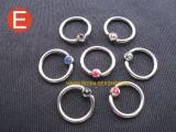 Kroužky a podkovy piercing