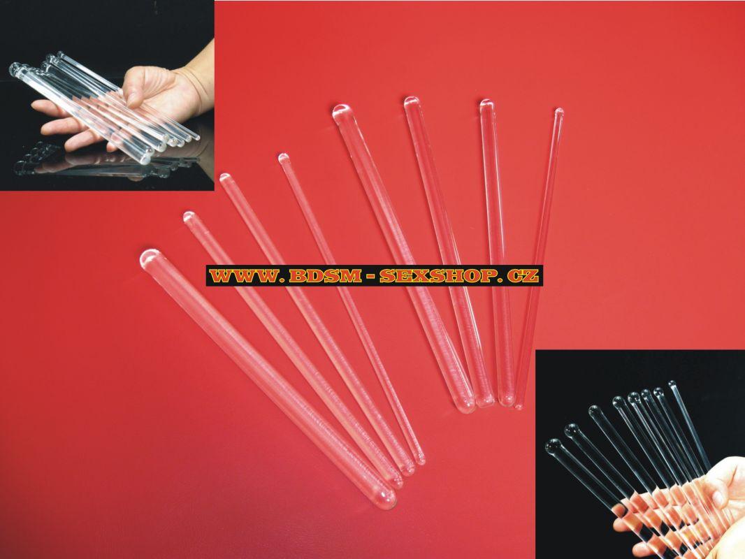 Dilatátor skleněný hladký - balení obsahuje 8 ks