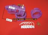 Silikonový pás cudnosti - fialový, růžový