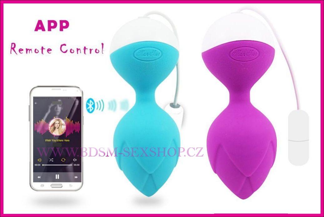 Vibrační vajíčko ovládané telefonem