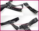Ženský kožený pás cudnosti s vibračním kolíkem