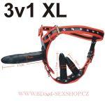 Strap on Potěšení 3v1 XL
